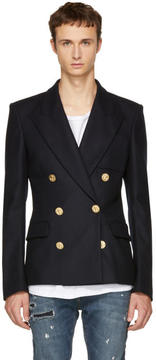 Faith Connexion Navy Gold Button Fitted Blazer