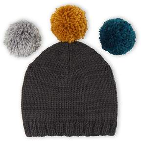 Petit Bateau Gift set with girl's cap and interchangeable pompoms