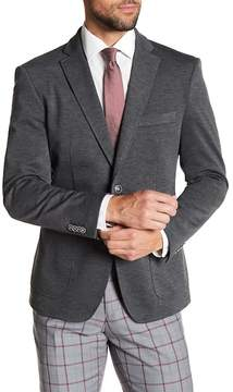 English Laundry Grey Two Button Notch Lapel Knit Suit Separates Jacket