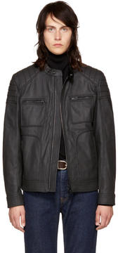 Belstaff Black Coated Denim Weybridge Jacket