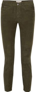 Current/Elliott The Stiletto Corduroy Skinny Pants - Green