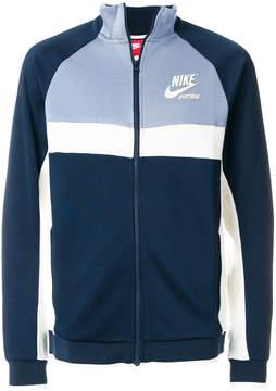 Nike colour-block zipped sweatshirt