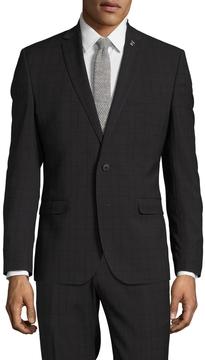 Nick Graham Men's Checkered Notch Lapel Sportcoat