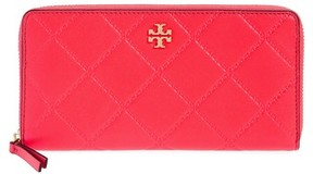 Tory Burch Women's Monroe Leather Continental Wallet - Pink - BLUE - STYLE