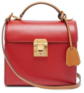 Mark Cross Sara Bi Colour Caviar Leather Bag - Womens - Red Multi