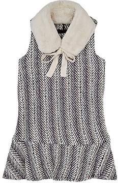 Imoga Penelope Herringbone Dress & Faux-Fur Collar