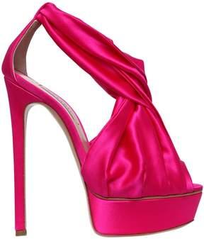 Casadei 140mm Stretch Silk Satin Sandals