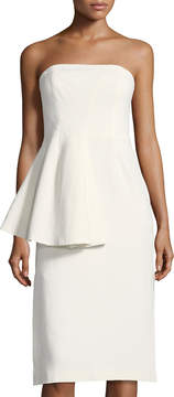 C/Meo Strapless Cotton/Linen Bustier Dress
