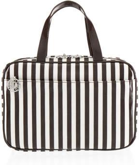 Henri Bendel Brown & White Large Hanging Weekender Bag