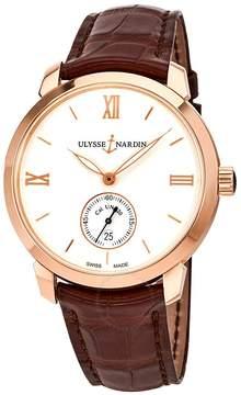 Ulysse Nardin Classico 18K Rose Gold Automatic Men's Watch 3206-136-2-31