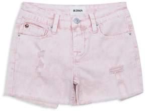 Hudson Girls' Distressed Acid-Wash Shorts - Big Kid