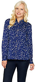 C. Wonder Constellation Print Carrie Blouse