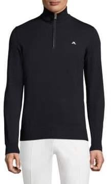 J. Lindeberg Golf Kian Logo Printed Wool Sweater