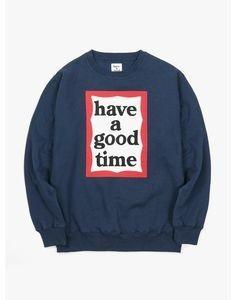 Have A Good Time Frame Crewneck - Navy