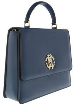 Roberto Cavalli Fqb917 Pz132 4438 Azure Blue Shoulder Bag
