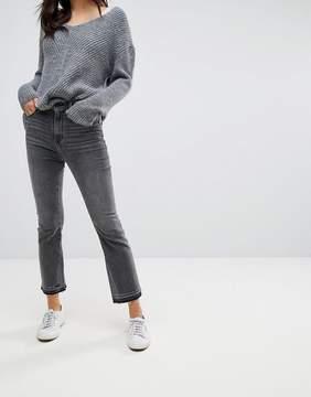 Abercrombie & Fitch Crop Flare Jean In Black Wash