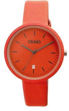 Crayo Easy Collection CRACR2403 Unisex Watch with Leather Strap