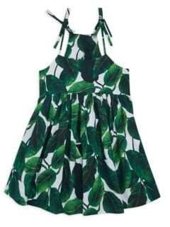 Milly Minis Toddler's, Little Girl's& Girl's Banana Leaf-Print Tank Dress