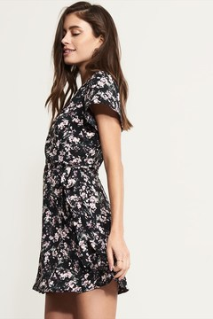 Dynamite Fit-And-Flare Wrap Dress