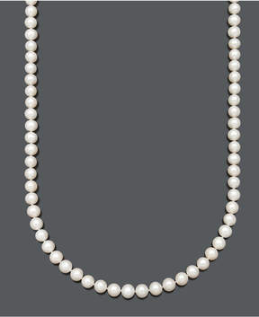 Belle de Mer Aa+ 24 Cultured Freshwater Pearl Strand Necklace (7-1/2-8-1/2mm) in 14k Gold