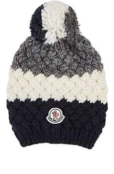 Moncler Men's Striped Chunky-Knit Wool-Blend Hat