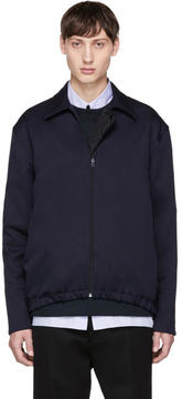 Marni Navy Collared Jacket