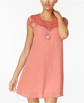 B. Darlin Juniors' Lace-Up Shift Dress