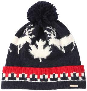 DSQUARED2 Deer Wool & Alpaca Knit Hat W/ Pompom
