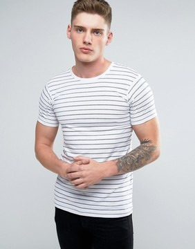 Lindbergh T-Shirt With Stripe In White