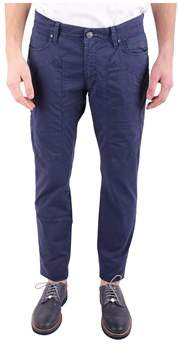 Jeckerson Men's Blue Cotton Pants.