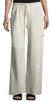 Allen Allen Wide-Leg Lounge Pants