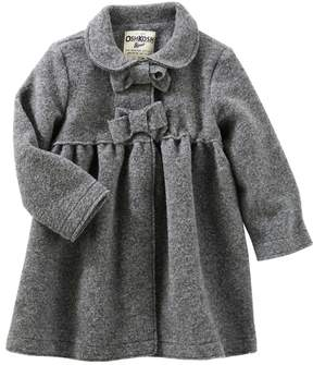 Osh Kosh Toddler Girl Flannel Bow Coat