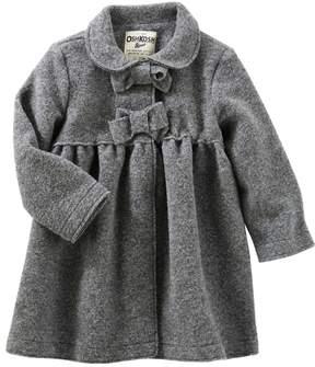 Osh Kosh Toddler Girl Flannel Bow Coat