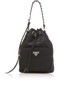 Prada Stud-Embellished Bucket Bag