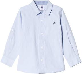 Petit Bateau Blue Button Shirt