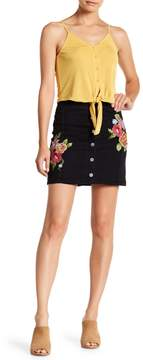 Flying Tomato Button Down Floral Print Skirt