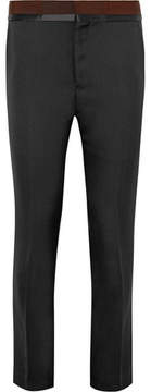 Haider Ackermann Grosgrain And Satin-Trimmed Wool Trousers