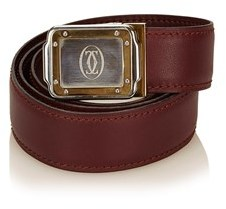 Cartier Pre-owned: Logo Leather Belt.
