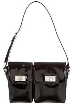 Gucci Patent Shoulder Bag - BLACK - STYLE