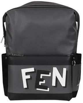 Fendi Men's Black Polyester Backpack.
