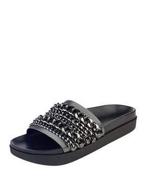 KENDALL + KYLIE Shiloh Chain Flat Slide Sandal