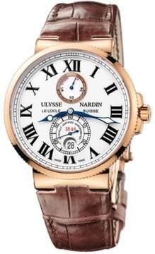 Ulysse Nardin Maxi Marine Chronometer White Dial Automatic 18 Carat Rose Gold Men's Watch
