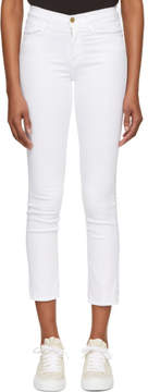 Frame White Le High Straight Jeans
