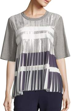 Public School Women's Ezra Metallic Pleated Top