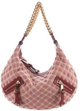Marc Jacobs Quilted Banana Hobo - PINK - STYLE