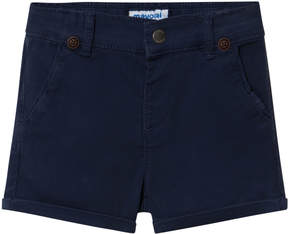 Mayoral Navy Chino Shorts with Braces