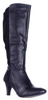Karen Scott Ks35 Haidar Knee High Chain Boots, Black.