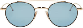 Thom Browne Gold TB 101 Sunglasses