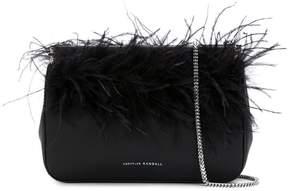 Loeffler Randall Maisie feather-embellished clutch