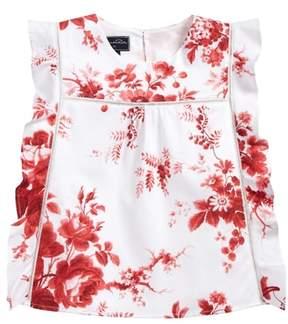 Oscar de la Renta Floral Print Tunic